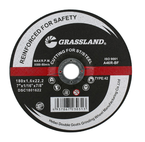 "Cutting Disc, Stainless Steel Freehand Cut-off wheel - Depressed Center - 7"" x 1/16"" x 7/8"" - T42"