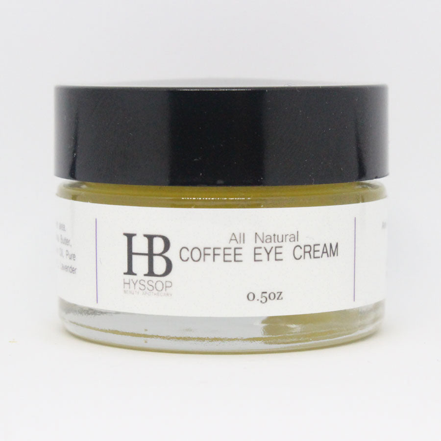 All Natural Coffee Eye Cream Hyssop Beauty Apothecary