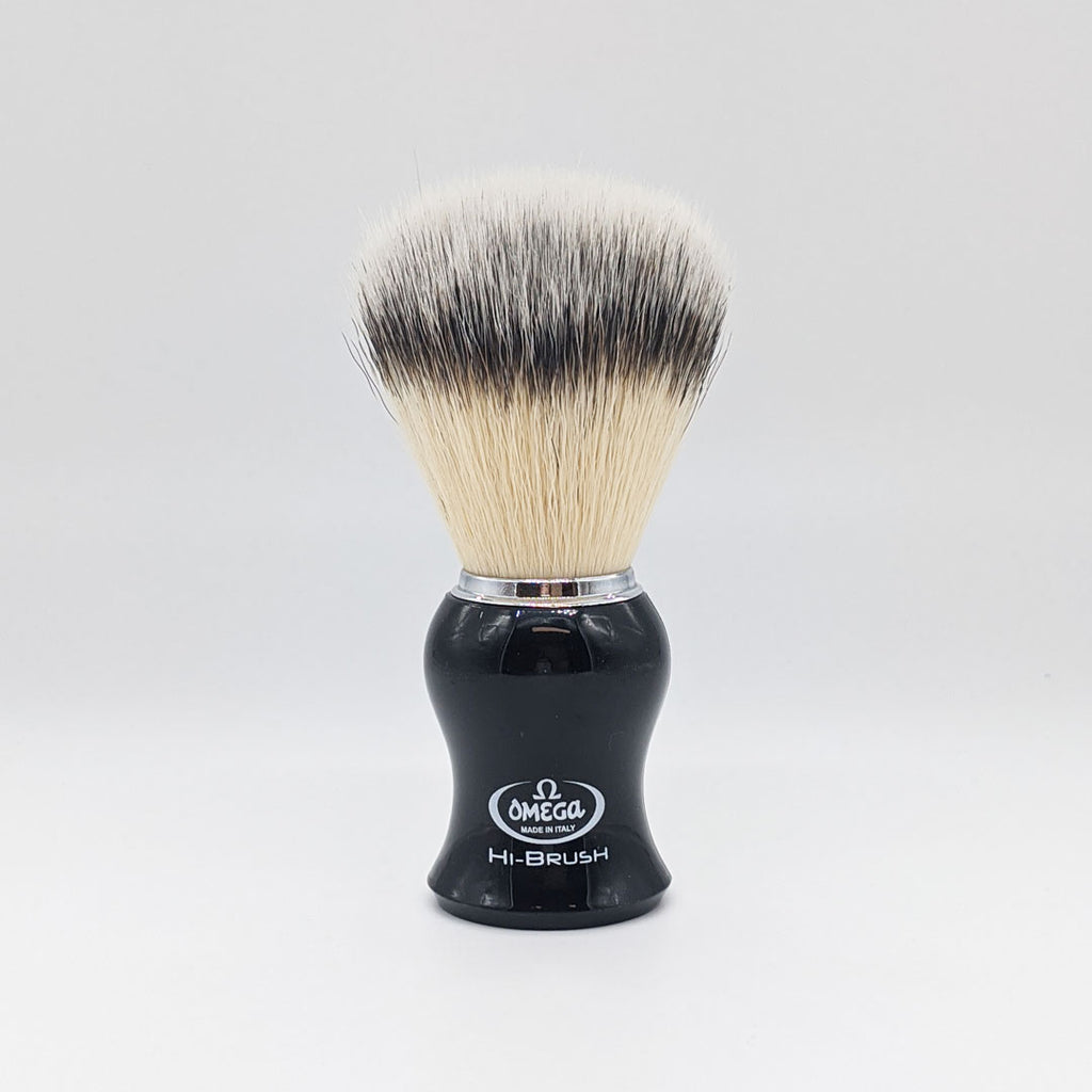 Omega Hi-Brush fiber shaving brush (Black)