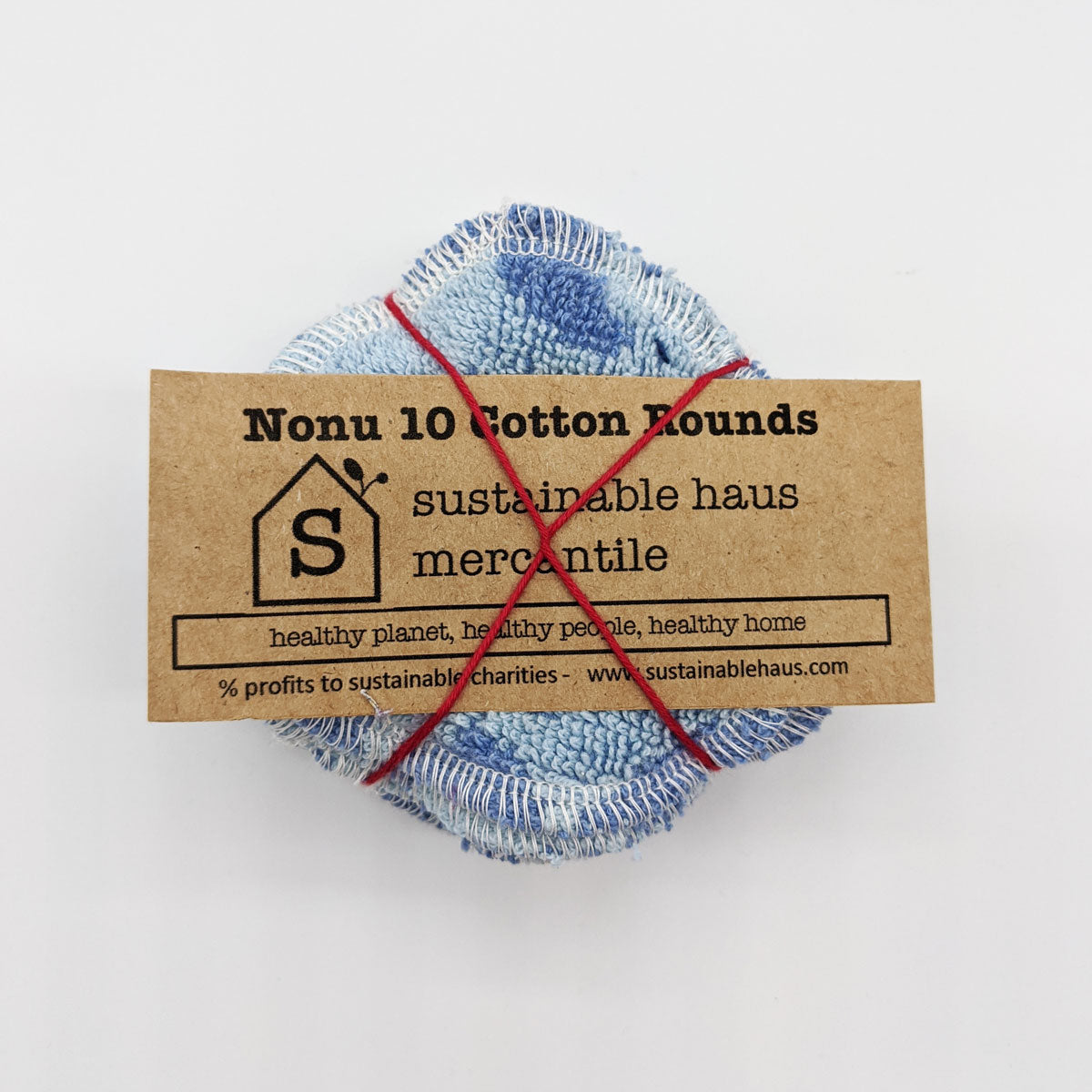 sustainable haus Reusable Cotton Rounds (10) - light blue