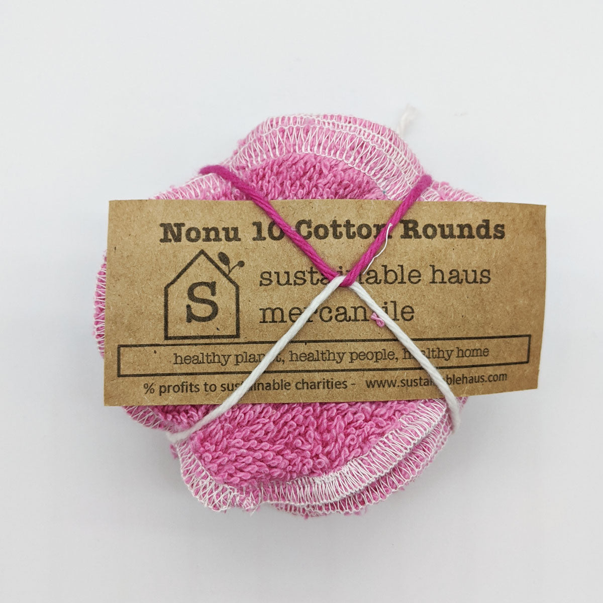 sustainable haus Reusable Cotton Rounds (10) - pink