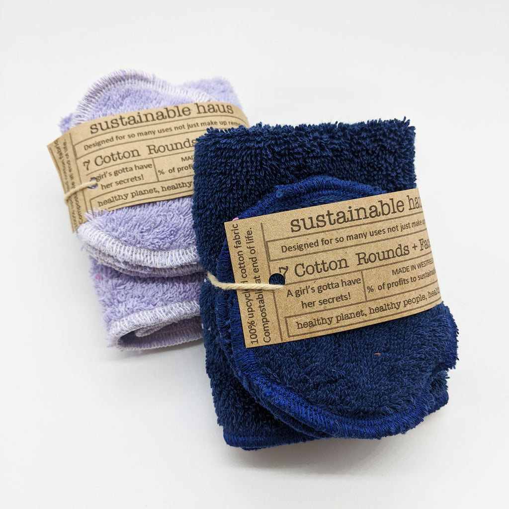 Reusable Cotton Rounds (7) with Washcloth by sustainable haus mercantile
