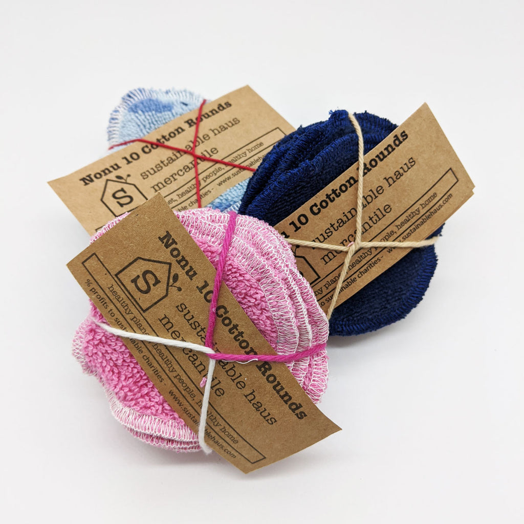 sustainable haus Reusable Cotton Rounds (10) - Assorted colors