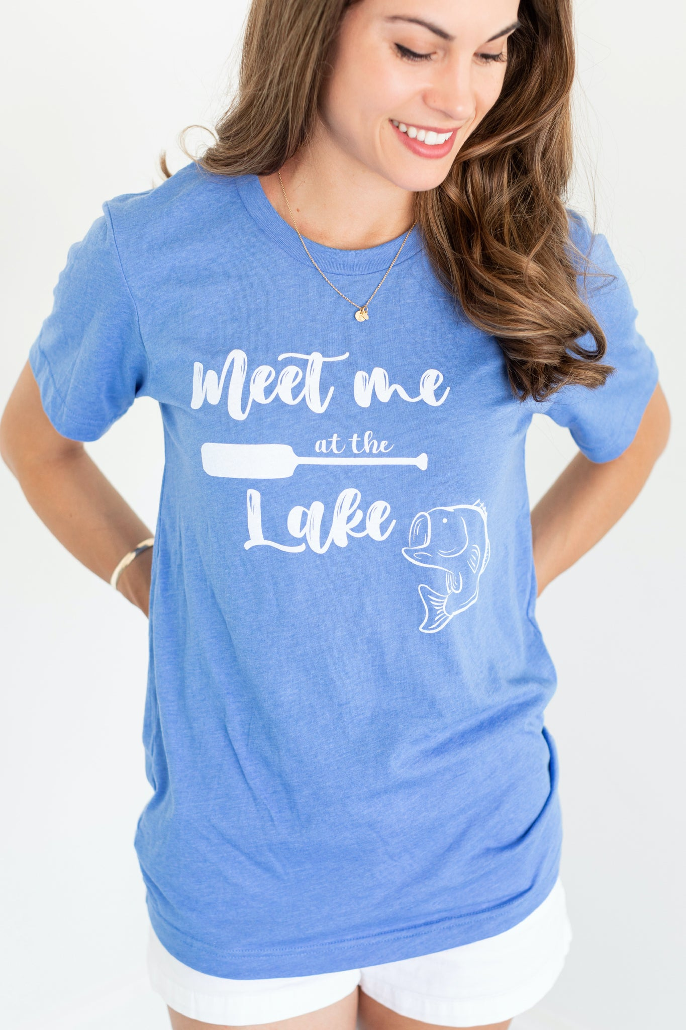 Meet Me At The Lake Blue T-Shirt