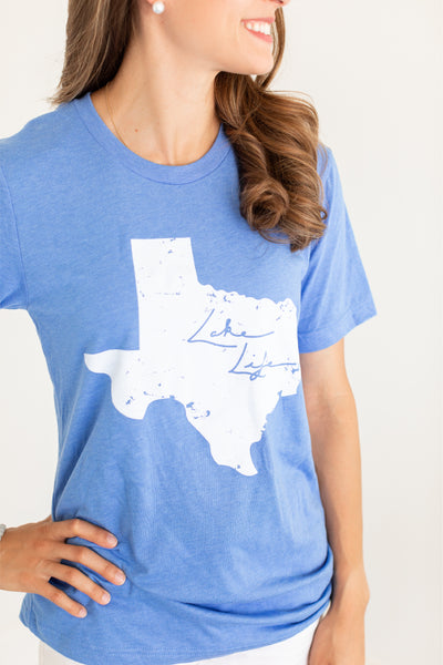 Lake Life Texas Blue T-Shirt