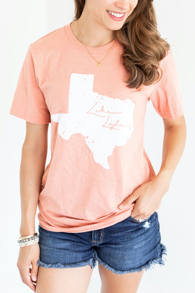 Lake Life Texas Pink T-Shirt