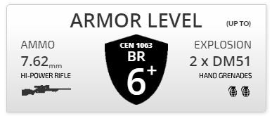 Armor level BR6 Car Bulletproof Car