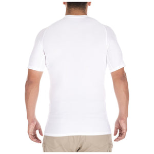 5.11 Tactical 40005 Men Tight Crew Short Sleeve Shirt White