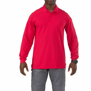 5.11 Tactical 72057 Men Utility Long Sleeve Polo Range Red
