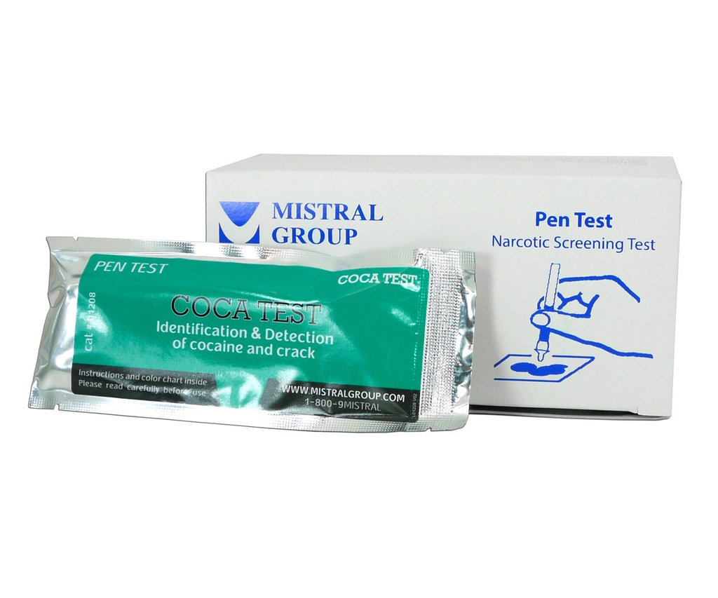 Mistral 1208 Coca Drug Detection Pen Test (Box of 10 Tests)