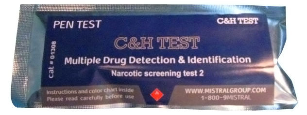 Mistral 1218 C&H Drug Detection Pen Test (Box of 10 Tests)