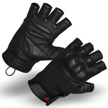 Rebel Tactical S.W.A.T. Force Half Finger Hard Knuckle Tactical Gloves - 2XL Black