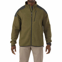 5.11 Tactical 72407 Men Tactical Full Zip Sweater Field Green