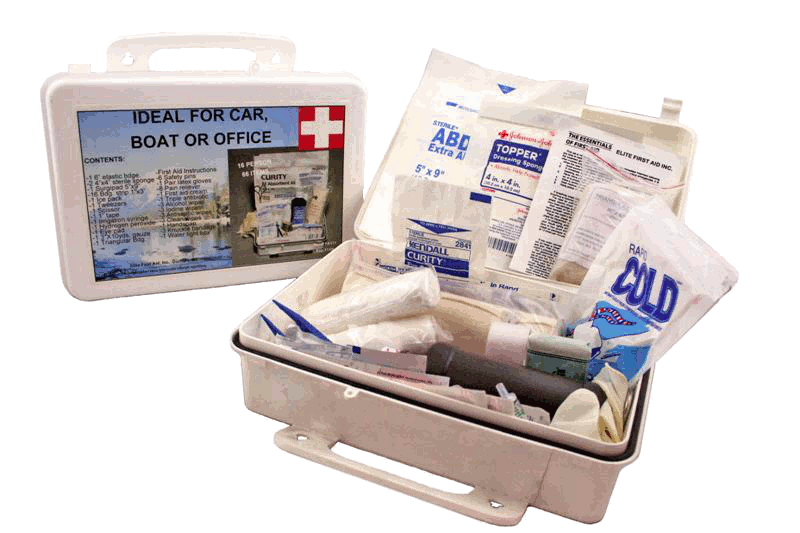 Elite First Aid FA111 - White Series Kit 16 Unit - White