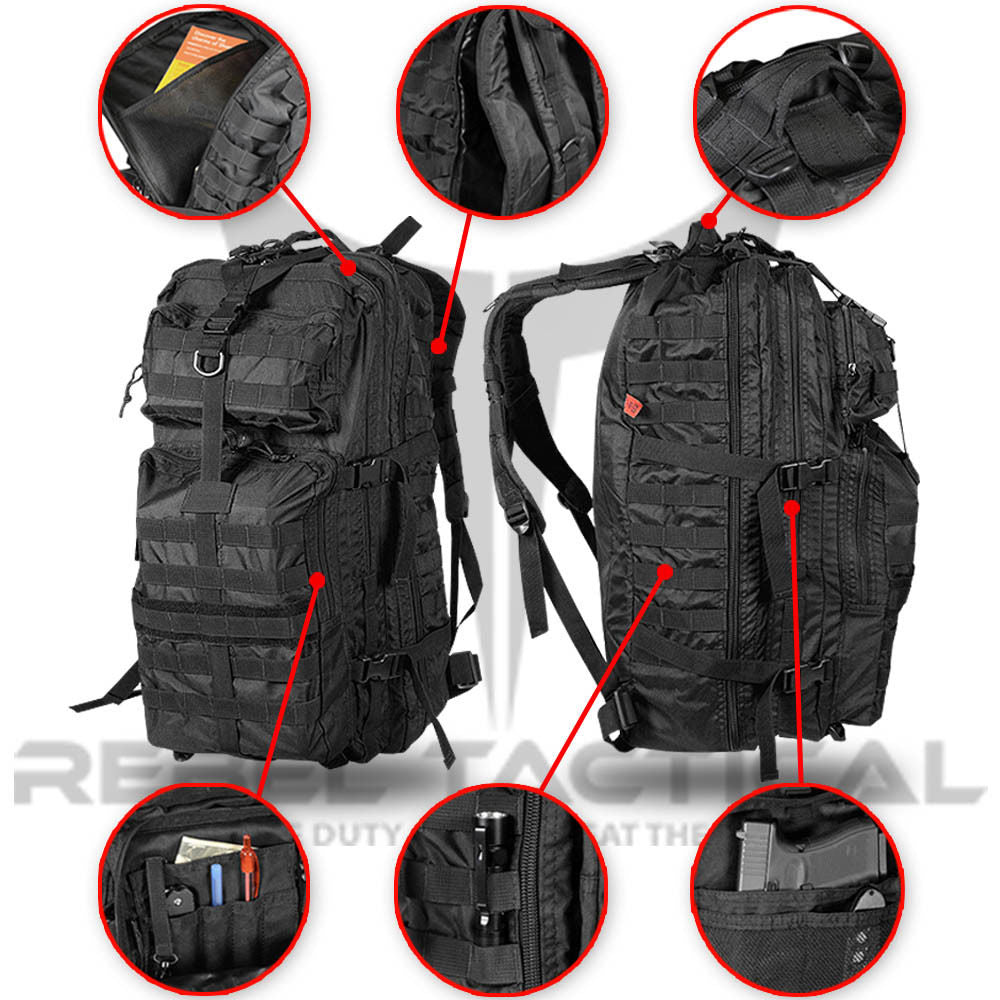 "Rich snippet previewHide snippet Rebel Tactical RT477 26"" MOLLE Tactical Assault Backpack"