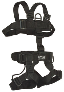 352B Padded Lightweight Assault Full Body Harness with read waist pad D ring