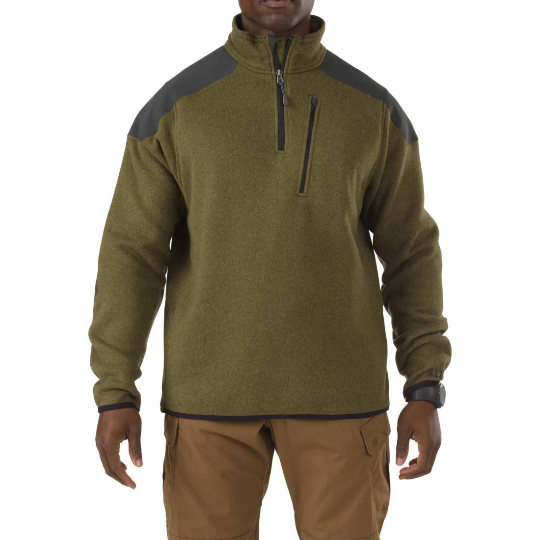 5.11 Tactical 72405 Men Tactical 1/4 Zip Sweater Field Green