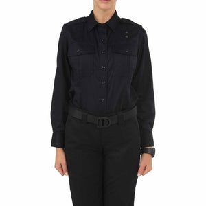 5.11 Tactical 62064 Women's Twill PDU Class-A Long Sleeve Shirt Midnight Navy