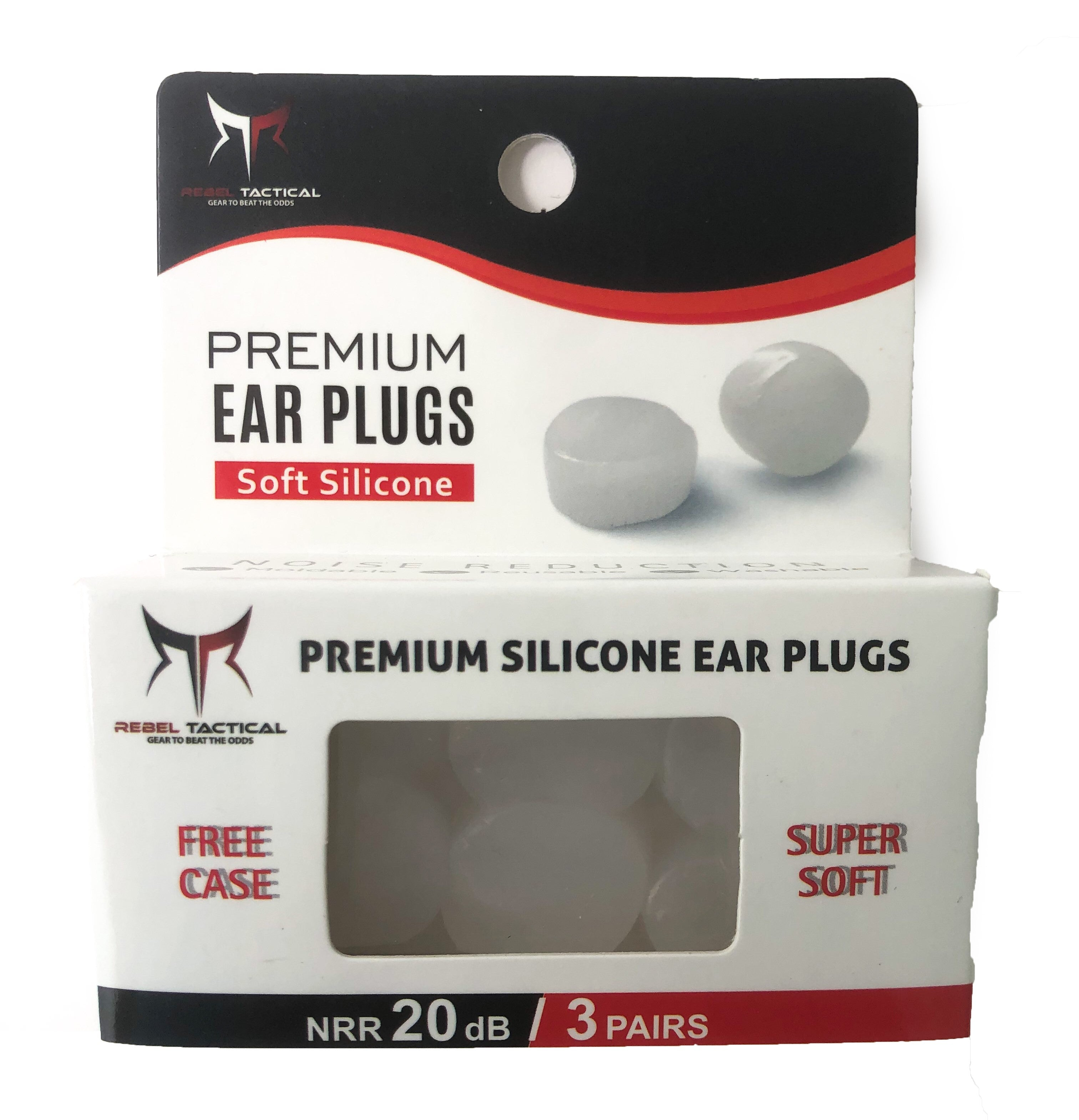 Rebel Tactical Premium Moldable Silicone Earplugs