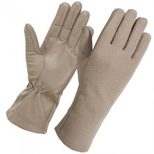 Secpro Tactical Cold Weather Nomex Pilot Flight Fleece Lined Gloves - TAN