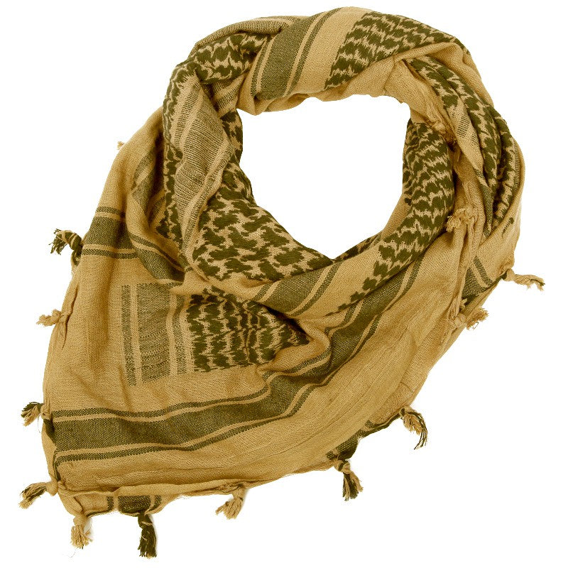 "Rebel Tactical Shemagh Tactical Military Scarf 42""x42"" Heavy Weight Desert  - Tan"