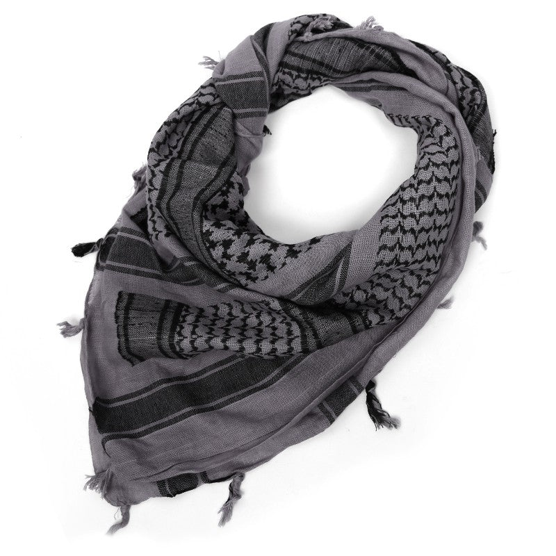 "Rebel Tactical Shemagh Tactical Military Scarf 42""x42"" Heavy Weight Desert - Grey"