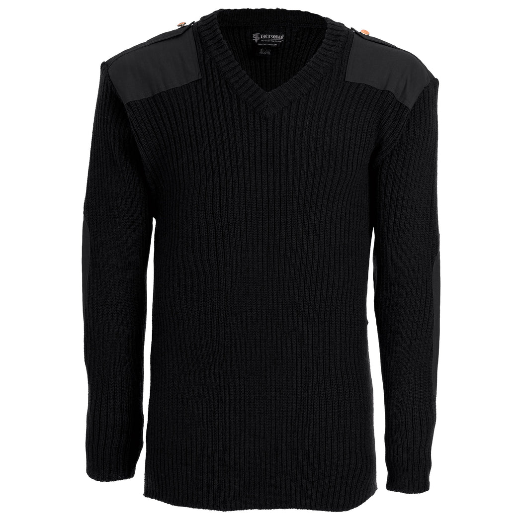 Tact Squad Men's Wool Commando V-Neck Sweater - 2004