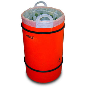 SecPro Round Bomb Containment Bin - 535mm Diameter - 500g Explosives - Black