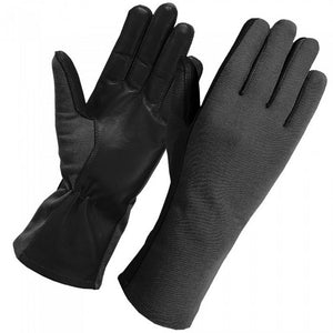 Secpro Tactical Cold Weather Nomex Pilot Flight Fleece Lined Gloves - Black