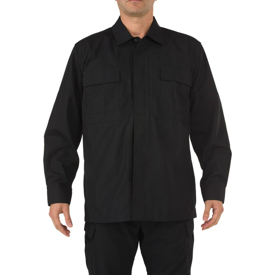 5.11 Tactical 72002 Men TDU Long Sleeve Shirt Black