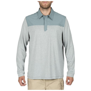 5.11 Tactical 72430 Men Rapid Long Sleeve Polo Silver Pine