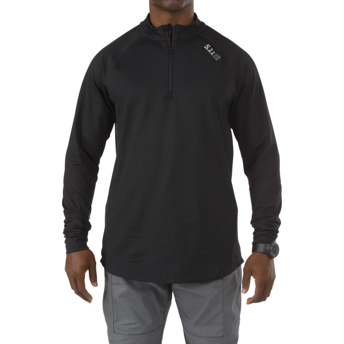 5.11 Tactical 40149 Men Sub Z Quarter Zip Black