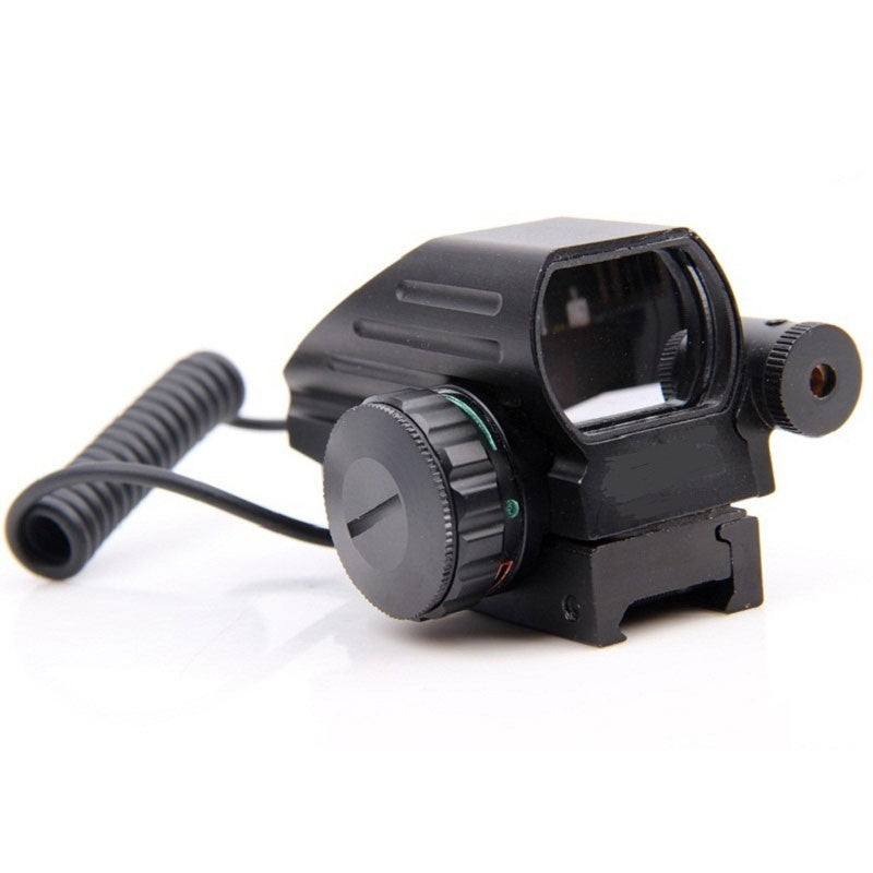 Rebel Tactical Red/Green 4 Reticle Red Dot Sight Laser Combo W/ Remote Pressure Switch