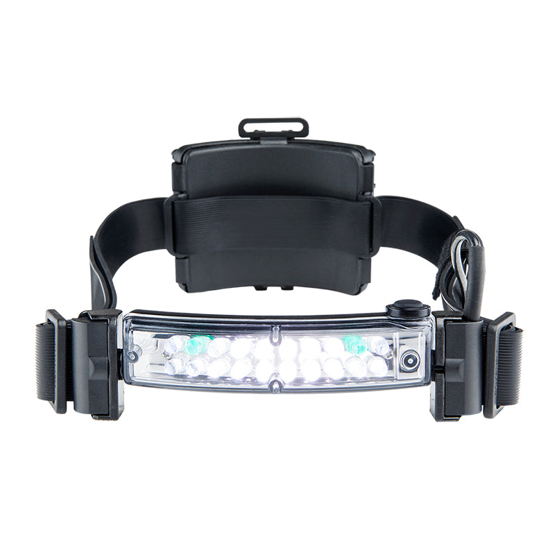 Command+ LoPro White & Green LED Headlamp/Helmet Light