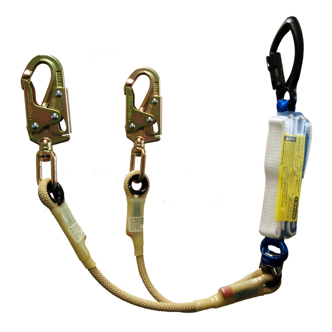 Yates BPA01 NEW 100% Tie Off Steel Step Bolt Hook Lanyard. w/6ft. Free Fall Potential