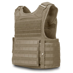SecPro Gladiator Tactical Vest Level IIIA - Tan (Rear)