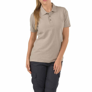 5.11 Tactical 61173 Women's Utility Short Sleeve Polo Silver Tan