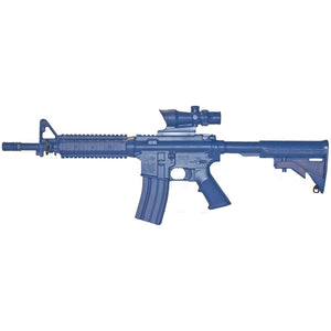 Blueguns FSM4CFTRACOG M4 COMMANDO Flat Top Open Stock, Fwd Rail, ACOG Sight