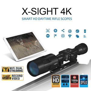 ATN X-Sight 4K 3-14x Buck Hunter Smart Daytime Hunting Rifle Scope w/ Full HD Video, WiFi, GPS, Smooth Zoom & Smartphone Control