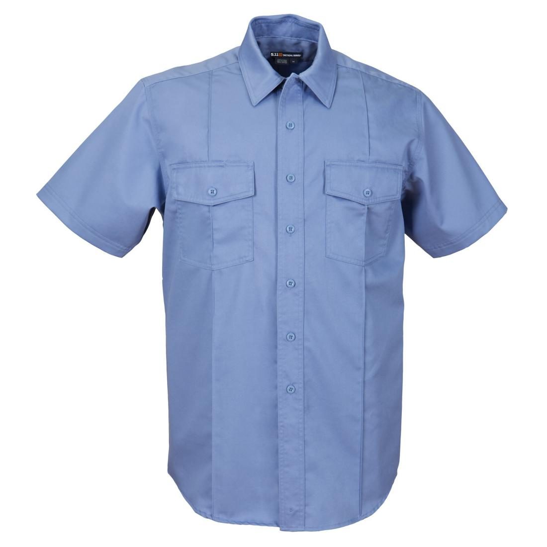 5.11 Tactical 46122 Men Station Non-NFPA Class-A Short Sleeve Shirt Fire Med Blue