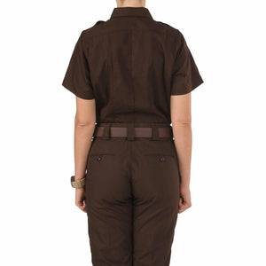 5.11 Tactical 61167 Women's Taclite PDU Class-A Short Sleeve Shirt Brown