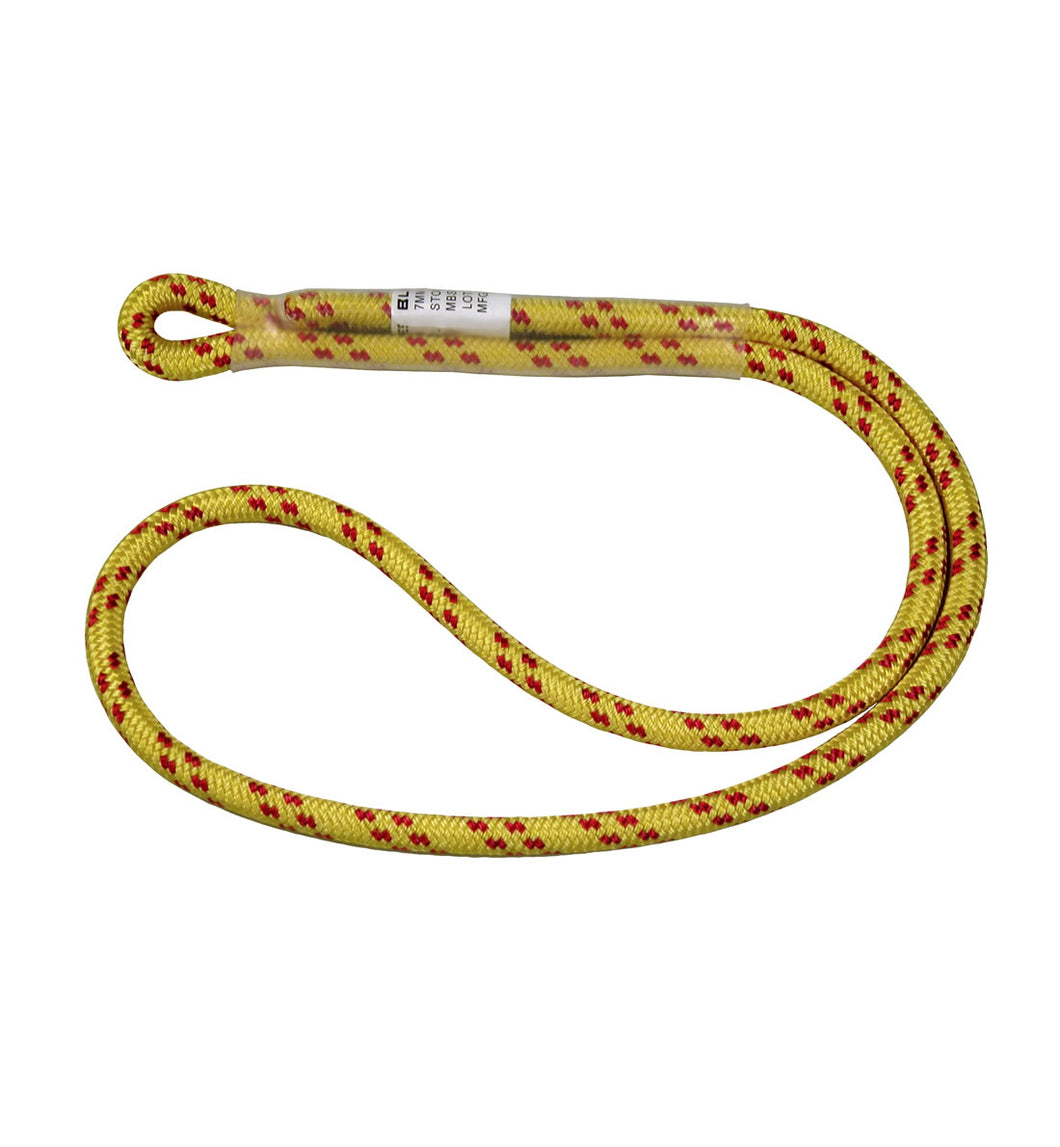 Bluewater Sewn Prusik Yellow Loop - 7MM