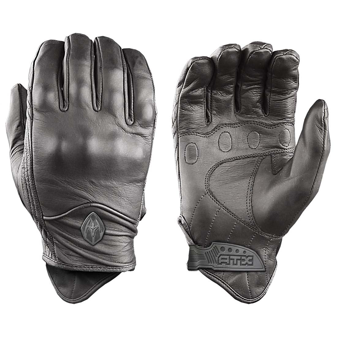 Damascus Gear All-Leather Gloves with Knuckle Armor
