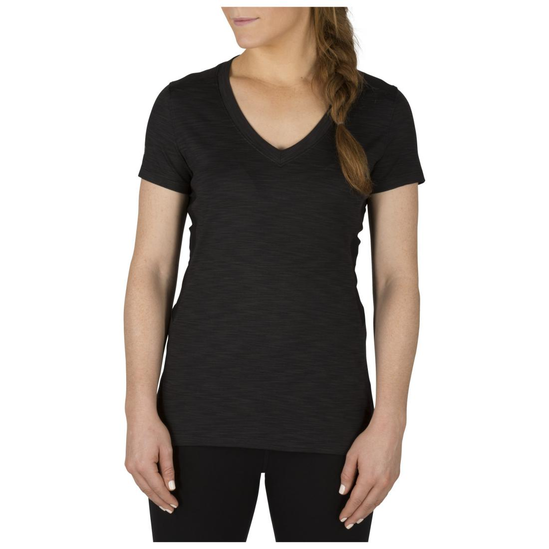 5.11 Tactical 61306 Women's Zig Zag V-Neck Black