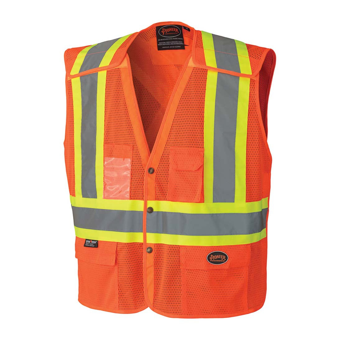 Pioneer Hi-Vis Safety Vest With Snaps