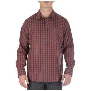 5.11 Tactical 72428 Men Covert Flex Long Sleeve Shirt Fireball