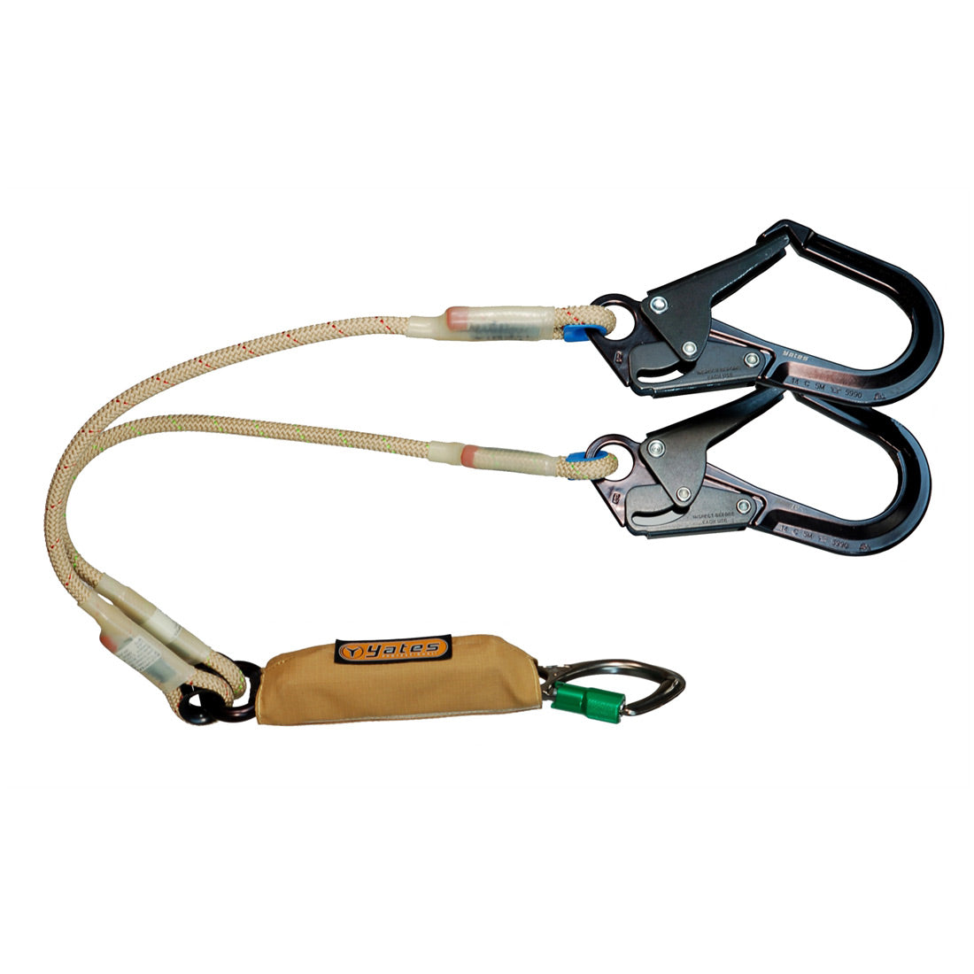 "Yates SPRAT48FR NEW FR 100% Tie Off 48"" (Sternal Attachment)Large Hooks. w/6ft. Free Fall Potential"