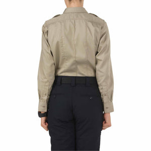 5.11 Tactical 62064 Women's Twill PDU Class-A Long Sleeve Shirt Silver Tan