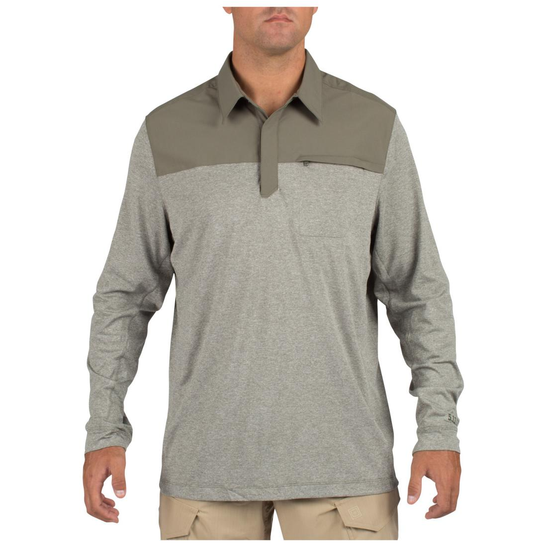 5.11 Tactical 72430 Men Rapid Long Sleeve Polo Sage Green