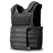 SecPro Gladiator Tactical Vest Level IIIA - Black (Front)
